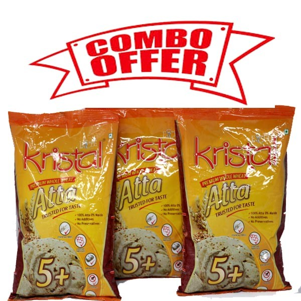 Kristal Atta 5+ ( COMBO OFFER 3 KG)