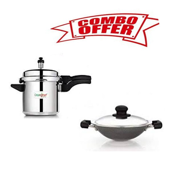 COMBO OFFER GREENCHEF NAMO PRESSURE COOKER 3L + APPACHATTY