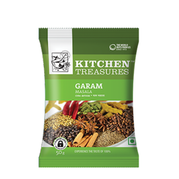 KITCHEN TREASURES GARAM MASALA 50 GM (25% OFF)