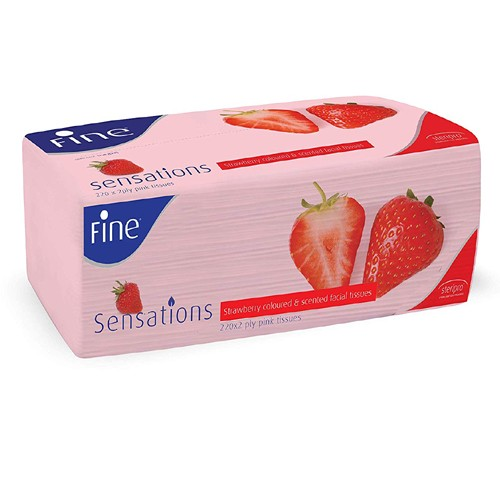 Fine Sensations - Strawberry Scented Facial Tissues (220 X 2 PLY - 440 Sheets)