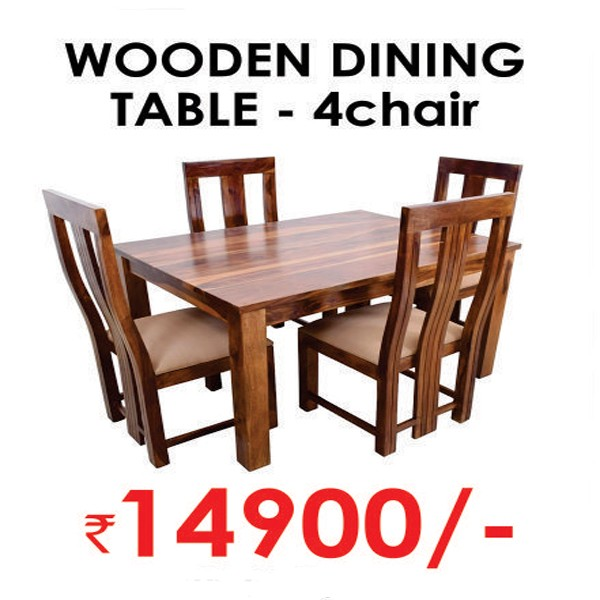 Wooden Dining Table-4 Chair