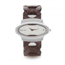 Fastrack Analog Dial Women's Watch -NK6004SL01 (Silver - Wooden Colour)
