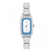 Fastrack Analog Silver Dial Women's Watch -NK6121SM01