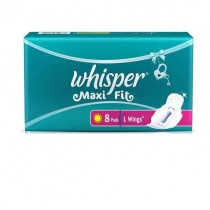 Whisper Maxi Fit L-8 Pad With Wings Sanitary Pad