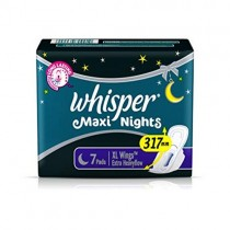 Whisper Maxi Nights XL Wings Sanitary Pad (Pack of 7 pads)