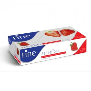 Fine Facial Tissues Sensation Strawberry Scented Tissues 200 sheets