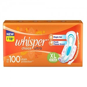 WHISPER CHOICE ULTRA XL Sanitary pads(pack of 20)