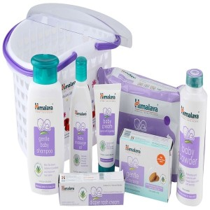 Himalaya Happy Baby Gift Pack basket (White)