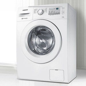Samsung 7kg Inverter Fully Automatic Front Load Washing Machine with In-built Heater WHITE(WW70J4263MW)