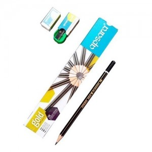 Apsara Gold HB Pencil Free long point sharpener and non-dust eraser