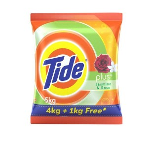 TIDE Plus Extra Power Detergent Washing Powder jasmin&Rose 5 kg Washing Powder