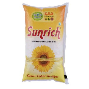 Sunrich Refined Sunflower Oil Pouch (1 L)