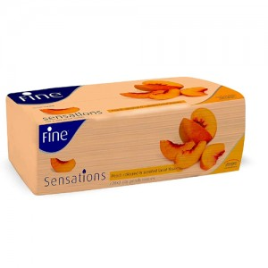 Fine Sensations - Peach Scented Facial Tissues (220 X 2 PLY - 440 Sheets)