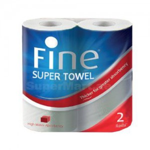 FINE SUPER TOWEL 2 ROLLS