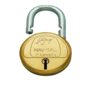 Godrej Nav-Tal 7 Levers 4 Keys lock (Brass)