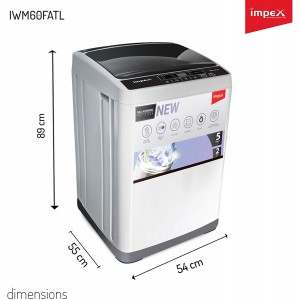 Impex 6 kg Fully-Automatic Top Loading Washing Machine (IWM60FATL,White & Black)