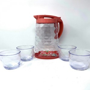 YooYee Water Jug with 4 Glasses