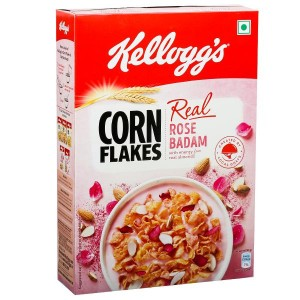 Kellogg's Cornflakes Real Rose Badaam Flavor (120 g, Pouch)
