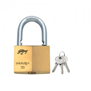 GODREJ SHERLOCK BLISTER LOCK 70 MM (GOLD, SILVER)
