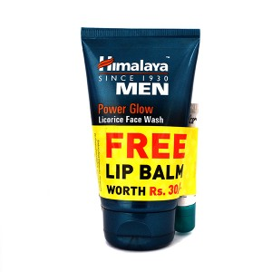 HIMALAYA POWER GLOW FACE WASH (100 ml)+ Lip Balm (10 g ) (Free)