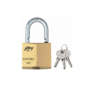 GODREJ SHERLOCK 40MM SOLID BRASS LOCK 7672