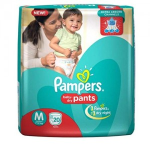 PAMPERS BABY DRY PANTS (MEDIUM 20PCS)