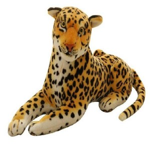 ChoicIt Leopard Animal Soft toy Stuffed - 35 cm - 35 cm (Brown)