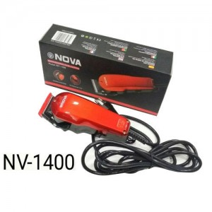 Nova NV-1400 Hair Clipper set Corded Trimmer for Men (Red)