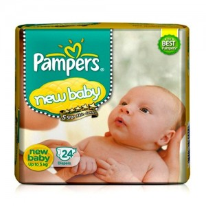 PAMPERS NEW BABY 24 Diapers(Small - Upto 5 kg)