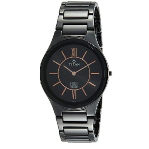 Titan Edge Ceramic Analog Black Dial Men's Watch-1696NC01