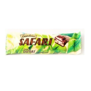 Gandour Safari Wafer, Caramel and Cereal Center in Milky Chocolate