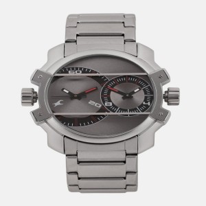 Fastrack Midnight Party Analog Grey Dial Men's Watch -NK3098SM01