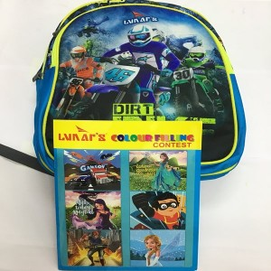 LUNAR'S DIRT BIKE BAGS WITH FREE COLOR BOOK