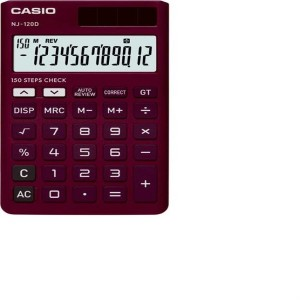 Casio NJ-120D-BK Portable Basic Calculator (12 Digit)