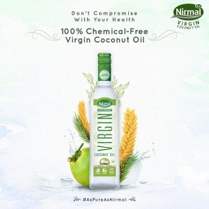 KLF Nirmal Cold Pressed Virgin Coconut Oil, 500 ml