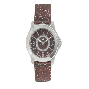 Fastrack Trendies Analog Brown Dial Women's Watch-9827PP18
