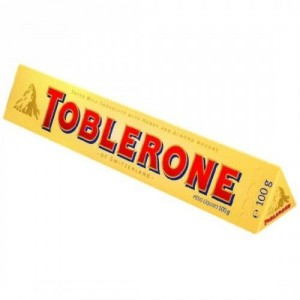 Toblerone Swiss Milk Chocolate With Honey & Almond Nougat & Salted Caramelised & Crunchy Almond, 100g