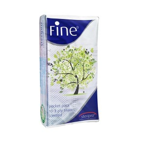 Fine Pocket Sterilised Tissues (10-3 ply tissues)