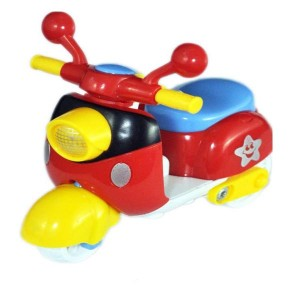 Babysid Collections Friction Toy Scooter Small Toy Size : 10 x 6 x 9 cm (Red)