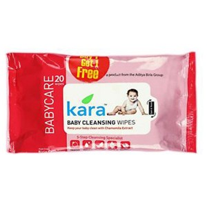 Kara Cleansing Baby Wipes (20 Wipes Per Pack) Buy 1 Get 1 Pack