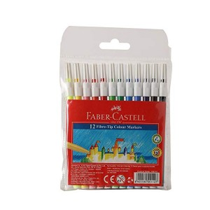 Faber-Castell 45F Sketch Pens - Assorted Colours (Pack of 12)