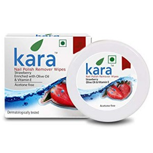 Kara Wipes Nail Polish Remover, Strawberry