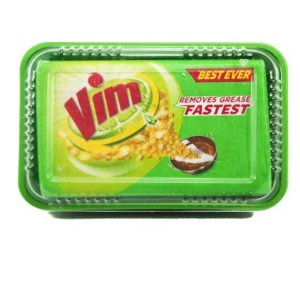 VIM ANTI SMELL DISH WASH BAR AND FREE SCRUBBER (500 G)