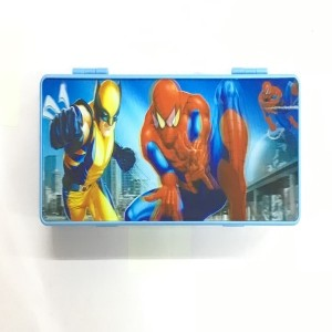 SKI Marvel Avengers Cartoon Art Plastic Pencil Box (Set of 1, Multicolor)