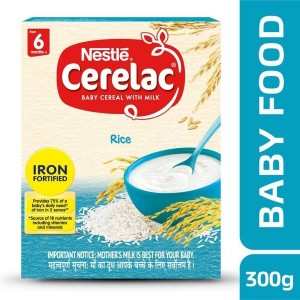 Nestle Cerelac Rice Cereal (300 g, 6+ Months)