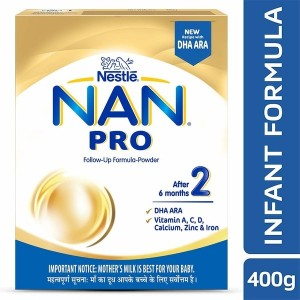 Nestle NAN PRO 2 Follow-up Formula Powder - After 6 months, Stage 2, 400g