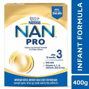 Nestle NAN PRO 3 Follow-up Formula Powder - After 12 months, Stage 3, 400g