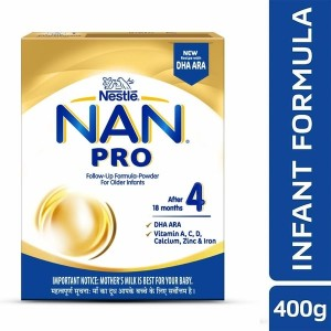 Nestlé NAN PRO 4 Follow-up Formula Powder - After 18 months, Stage 4, 400g