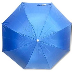 POPY 3 FOLD UMBRELLA STAINLESS STEEL FRAME WITH SILVER COATING (Navy Blue)