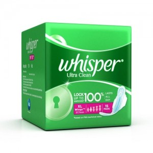 WHISPER ULTRA CLEAN XL 15 PADS